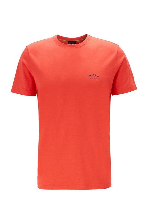 HUGO BOSS T-shirt en jersey de coton à logo incurvé Modèle Tee Curved - 50412363 620