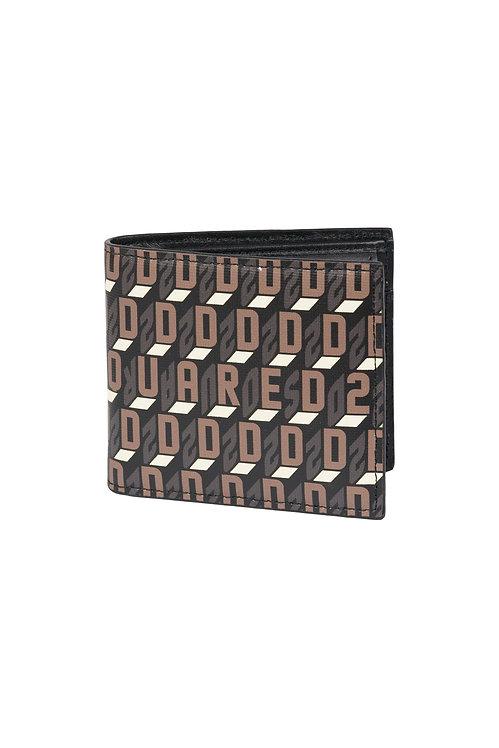 porte feuille dsquared2 monogram wallet WAM0015475042755080