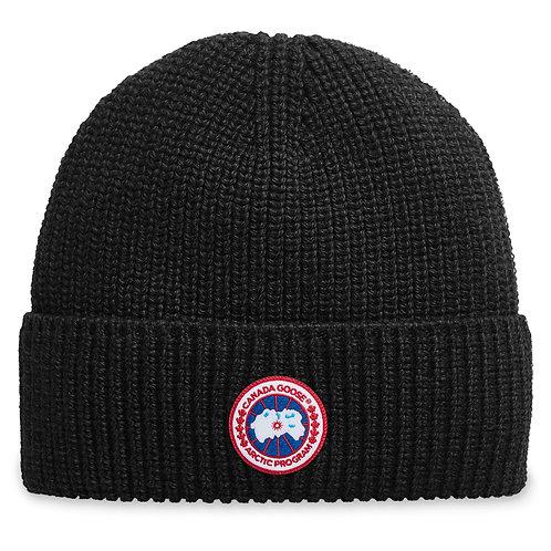 bonnet canada goose BONNET CÔTELÉ AVEC ÉCUSSON CLASSIQUE 5026M61 arctic disc rib toque
