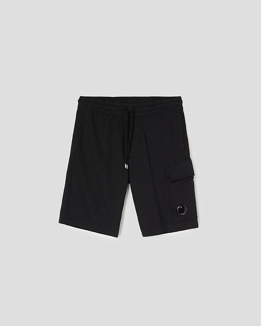 short cp company Light Fleece Garment Dyed Cargo Shorts 10CMSB041A002246G999