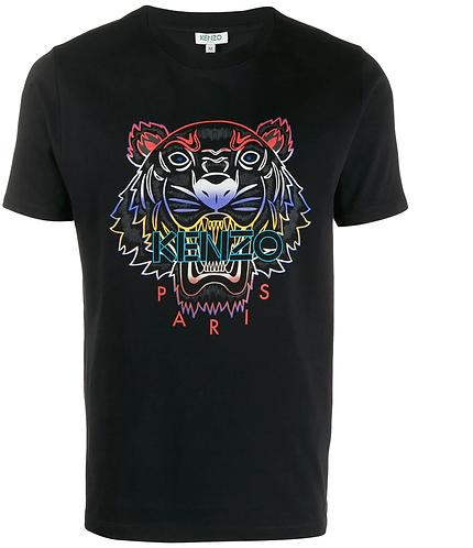 Kenzo T-shirt Tigre dégradé