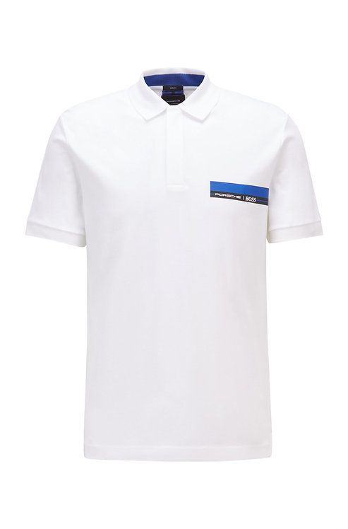 Polo Porsche x BOSS Polo Slim Fit en jersey simple de coton Modèle Polston 21_PS - 50449394