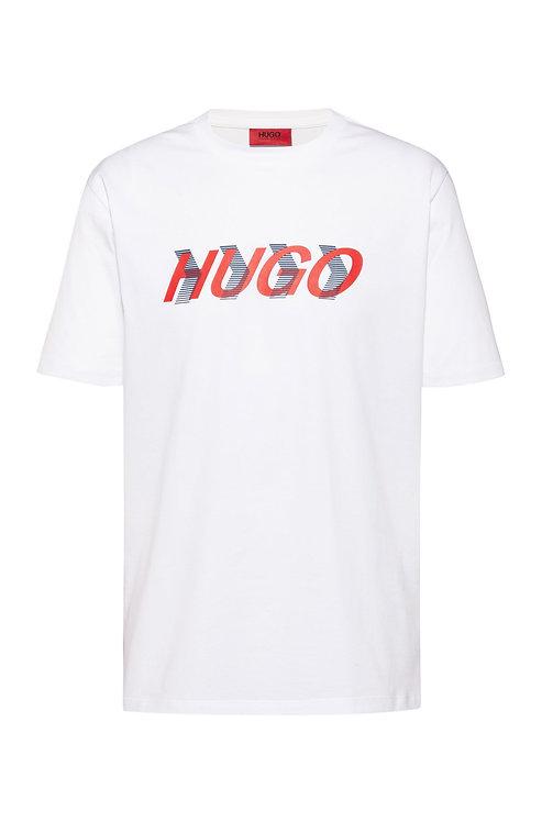 HUGO T-shirt mixte en jersey de coton à imprimé placé Modèle Dicagolino_LP3 - 50438854