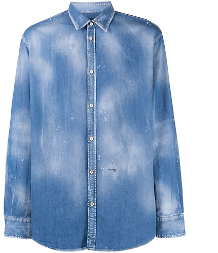 dsquared2 Medium Wash Relaxed Dan Shirt S74DM0497 S30341 470