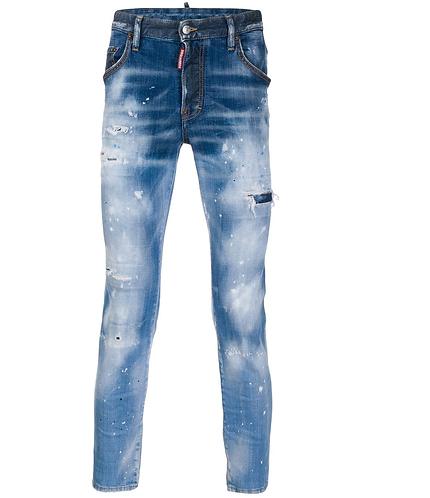 Light Paint Fade Down Skater Jeans dsquared2 S71LB0638S30342