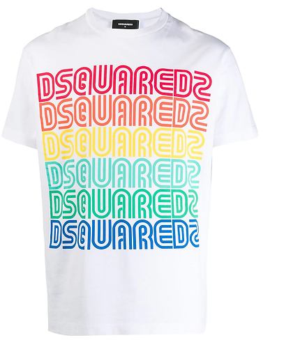 dsquared2 Multi Color Vintage Logo T-Shirt S71GD0876S22844100