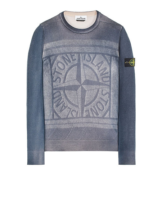 STONE ISLAND 570A8 PURE WOOL_FAST DYE + HAND MADE AIRBRUSH + LASER PRINT : REVERSIBLE 7515570A8 V0020