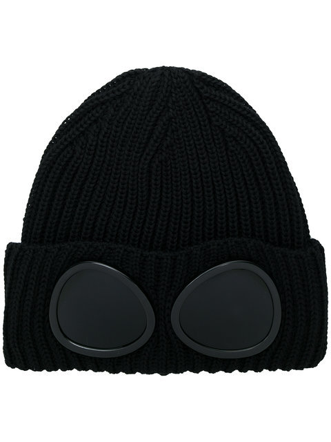 bonnet goggle cp company Extra Fine Merino Wool Goggle Beanie 11CMAC122A005509A999-ONESIZE
