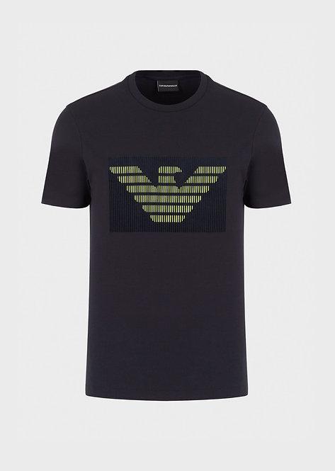 T-shirt en jersey avec imprimé logo floqué 3H1TB71J30Z10924