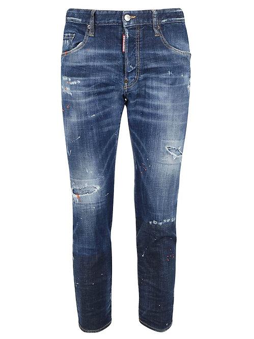 dsquared2 Dark Orange Macchia Skater Jeans S74LB0686S30342470