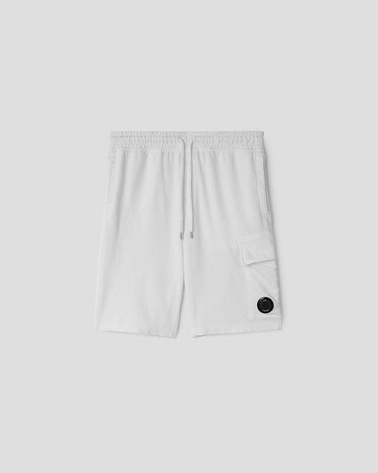 short cp company Light Fleece Garment Dyed Cargo Shorts 10CMSB041A002246G103
