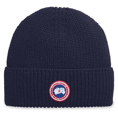 bonnet canada goose BONNET CÔTELÉ AVEC ÉCUSSON CLASSIQUE 5026M51 arctic disc rib toque