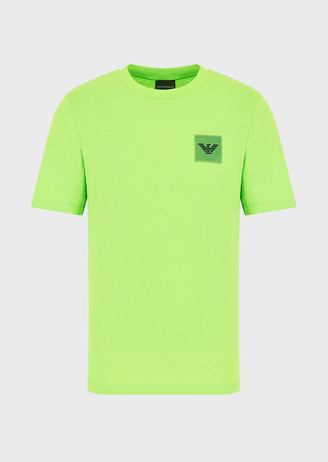 T-shirt emporio armani en jersey avec écusson aigle plastifié 3H1T631J89Z10563