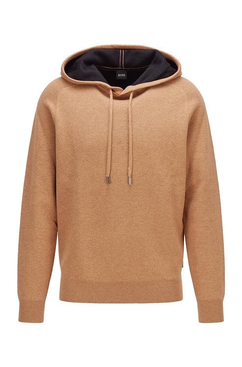 PULL A CAPUCHE HUGO BOSS MODÈLE NEPTUNE - 50457715 Pull à capuche en coton et laine avec intérieur contrastant