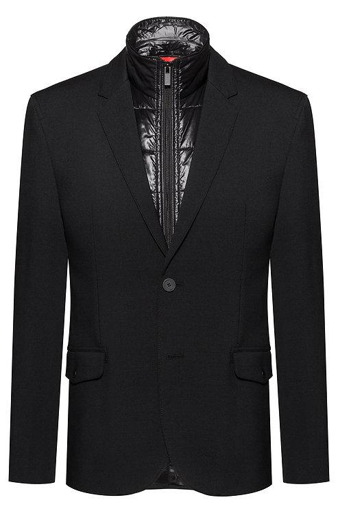 Veste de costume Slim Fit avec gilet sans manches matelassé zippé 50413763