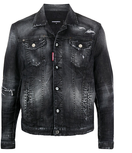 Black Wash Dan Denim Jacket dsquared2 S74AM1106S30357900