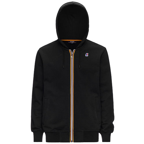 SWEAT A CAPUCHE NOIR KWAY ANTHONY BLACK PURE K1121GW-usy