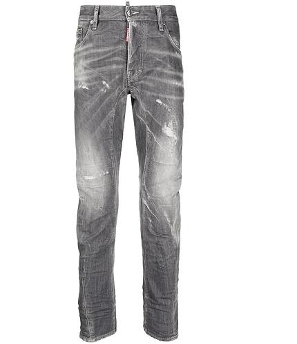 Grey Wash Tidy Biker Jeans