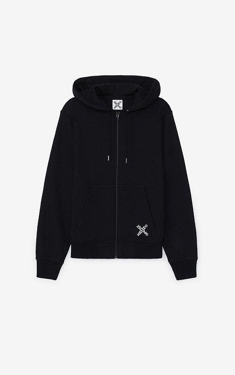 Sweatshirt zippé à capuche KENZO Sport 'Little X FA65BL7204MS.99.L