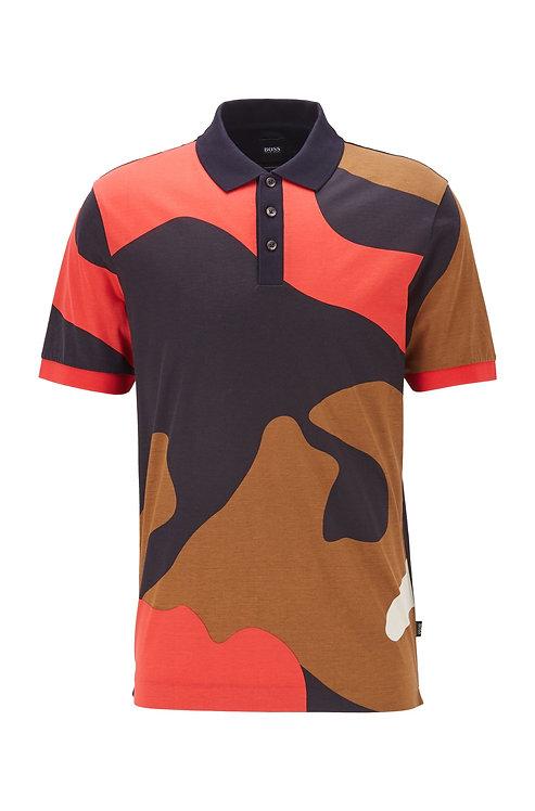 HUGO BOSS Polo imprimé camouflage en pur coton Modèle Parlay 79 - 50426058 402