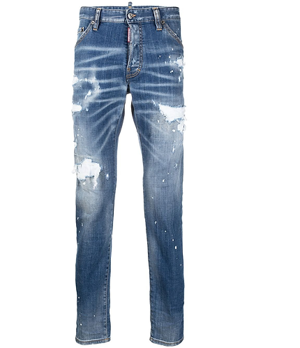 Ripped White Spots Wash Cool Guy Jeans dsquared2 S79LA0021S30342470