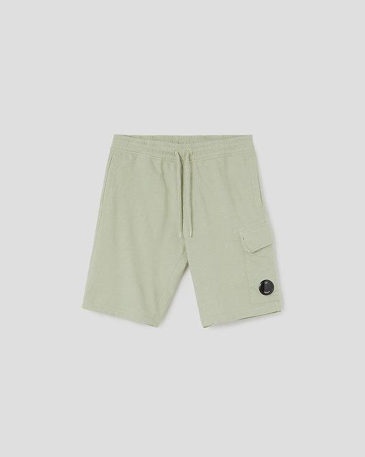 short cp company Light Fleece Garment Dyed Cargo Shorts 10CMSB041A002246G631