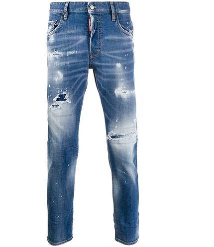 dsquared2 Bleached Holes Medium Skater Jeans S71LB0720S30664470
