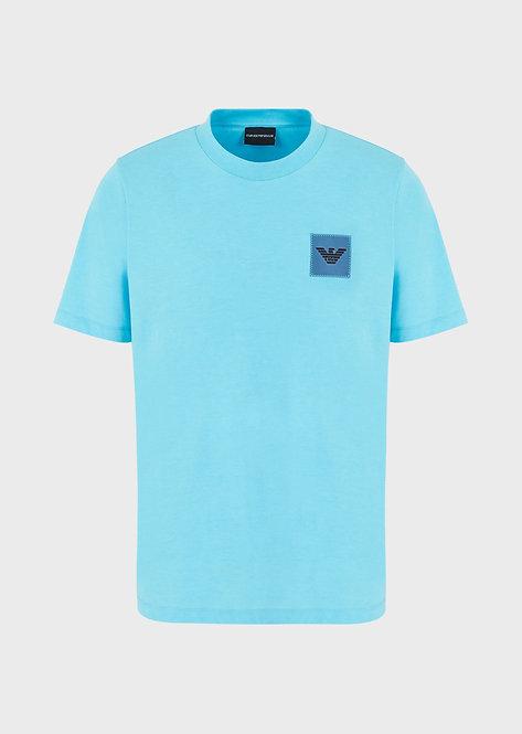T-shirt emporio armani en jersey avec écusson aigle plastifié 3H1T631J89Z10752
