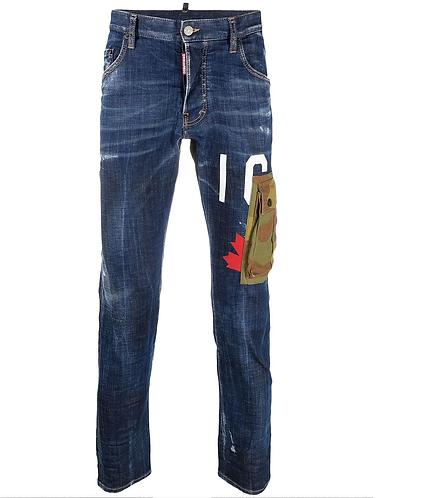 jean dsquared2 Dark Easy Wash Icon Jeans with Camo Pocket S79LA0030S30342470
