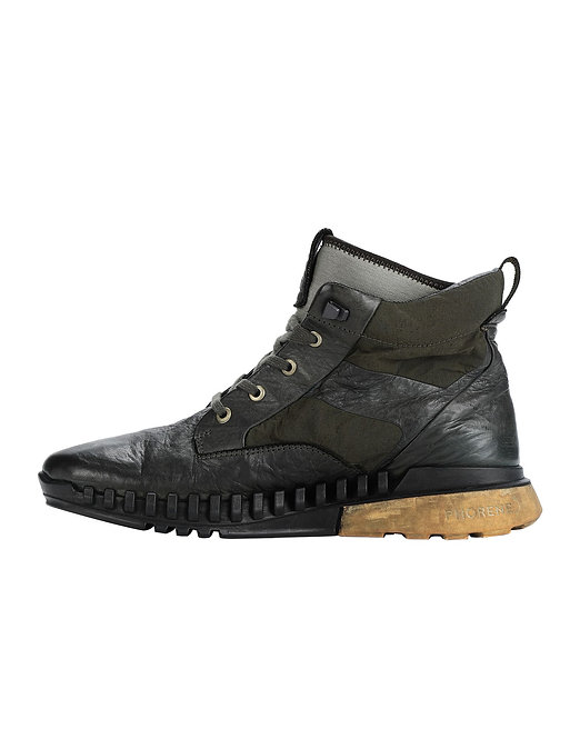 STONE ISLAND S0796 GARMENT DYED LEATHER EXOSTRIKE BOOT WITH DYNEEMA® 7315S0796