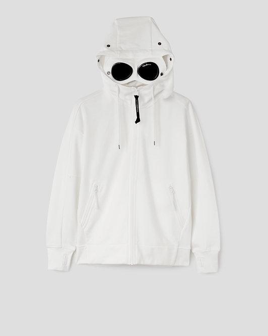 cp company Diagonal Raised Fleece Goggle Hoodie 10CMSS046A005086W103