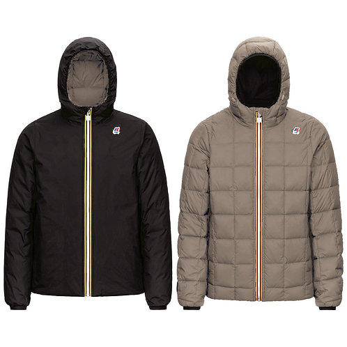blouson kway JACQUES THERMO PLUS.2 DOUBLE BLACK PURE – BEIGE TAUPE K111BEW-aa0