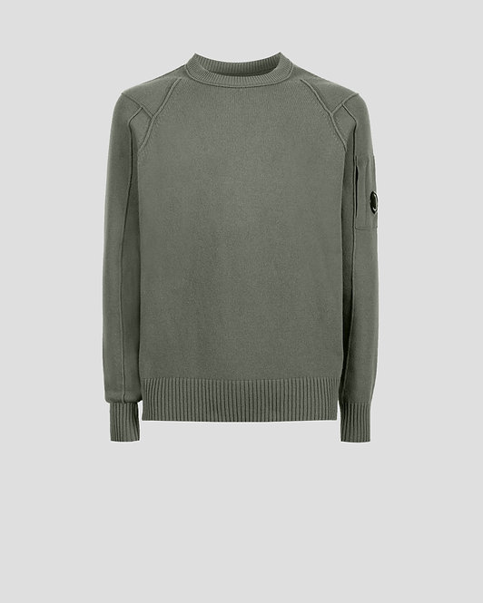 pull cp company Lambswool Crew Neck Knit 11CMKN087A005504A665