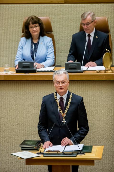 Inauguration of president Gitanas Nauseda