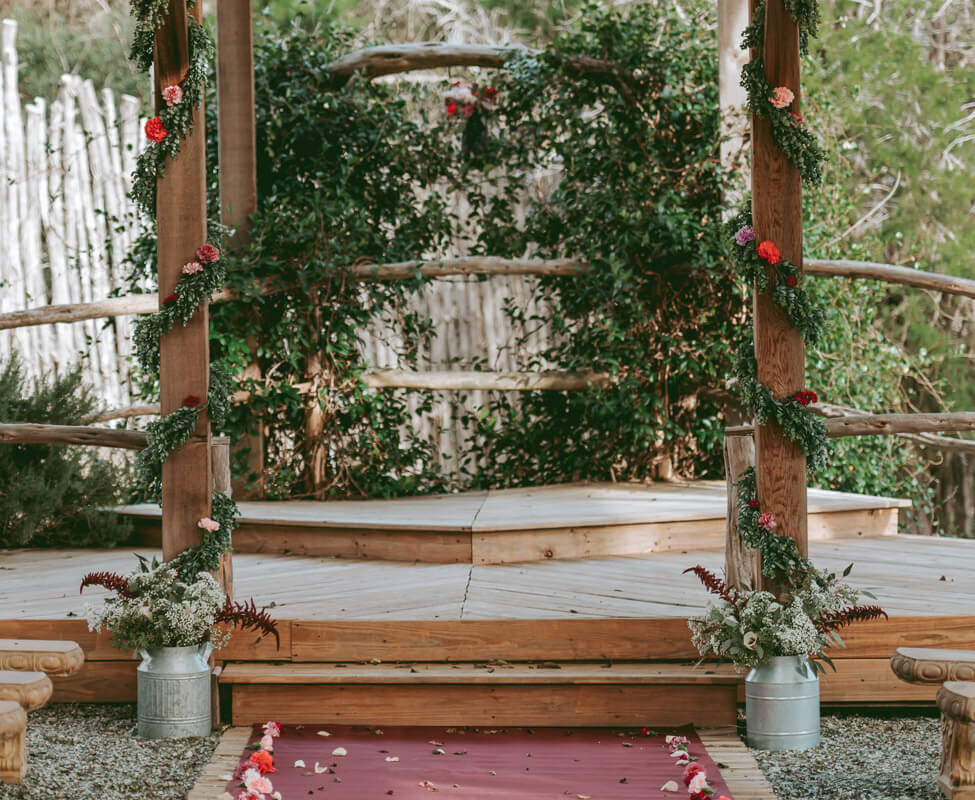Hill Country Wedding Venue- Outdoor cove