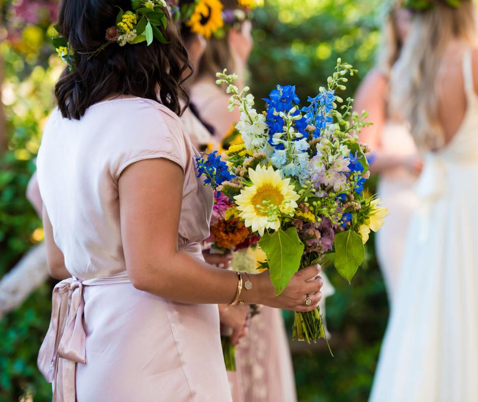 Wimberley Weddings- Bridesmaids at the A