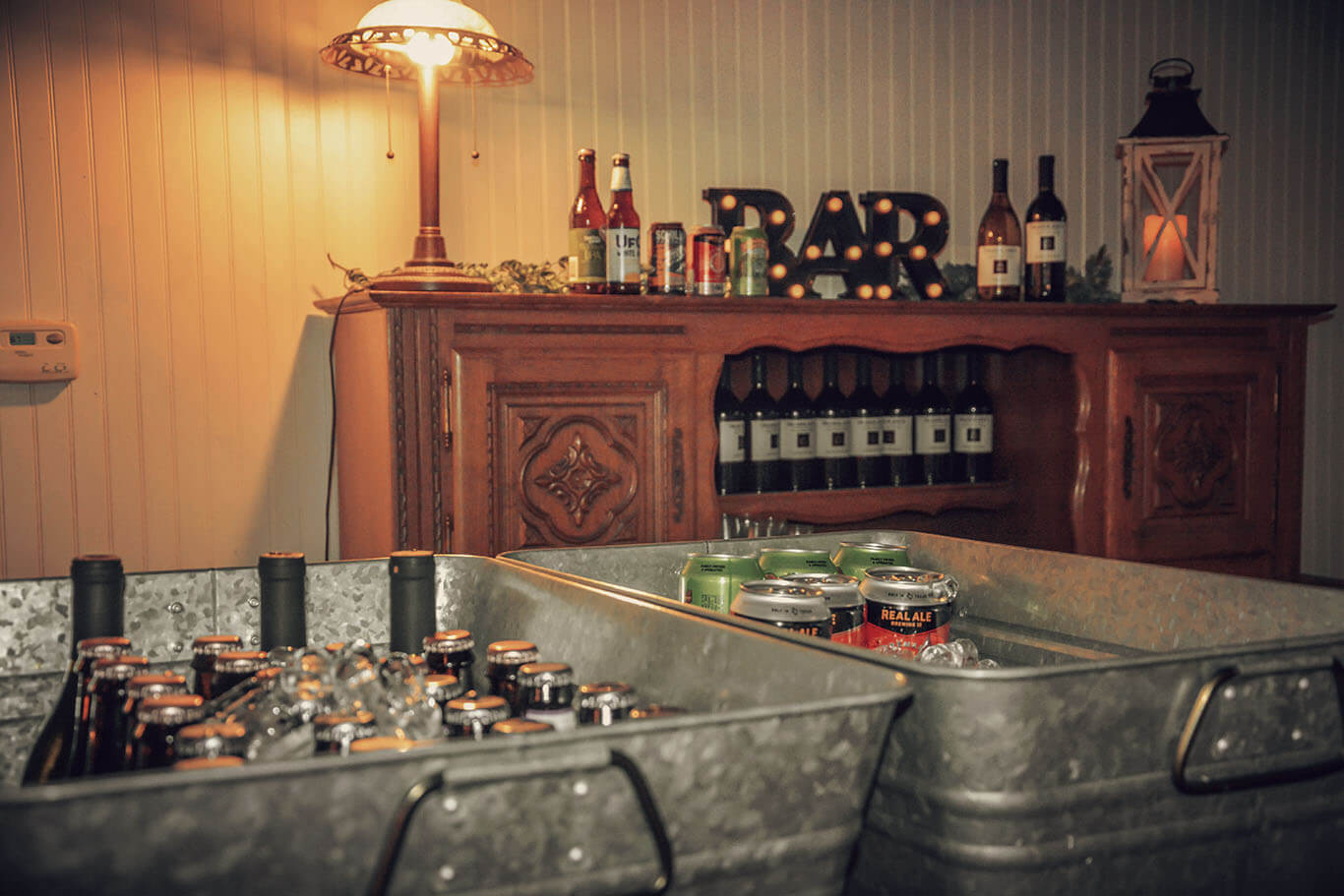 Hill Country Event Venue- Bar Set Up