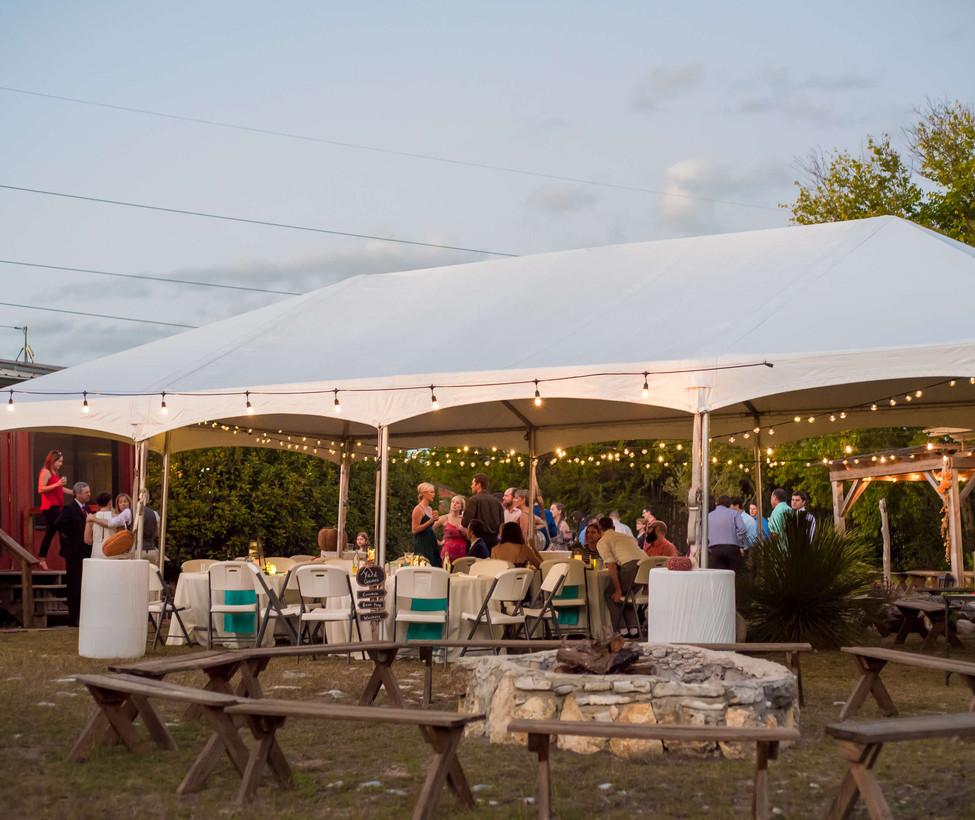 Wimberley Wedding Venue- Rented Tent for