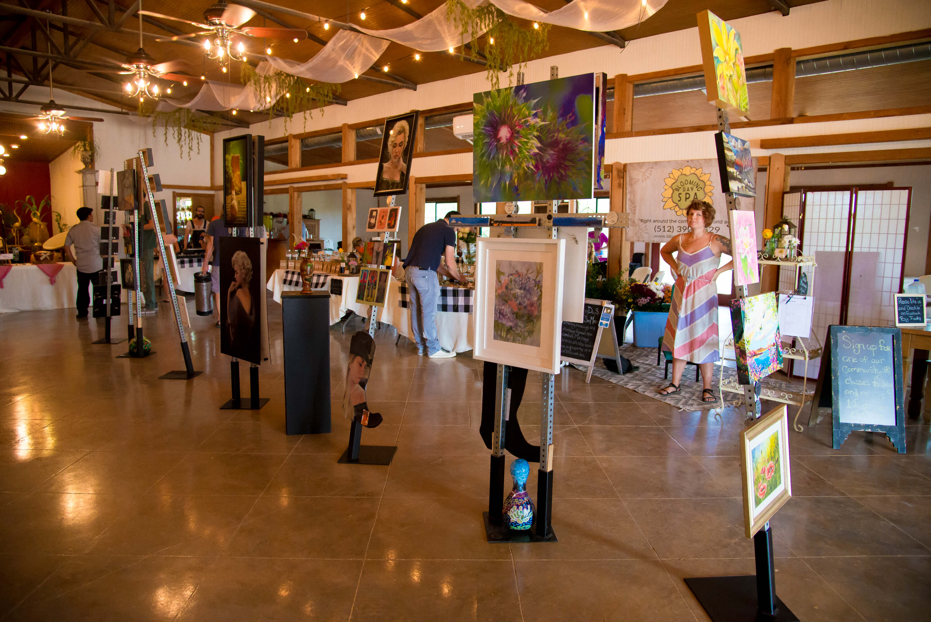 Wimberley Event Venue- Indoor Gallery Sp
