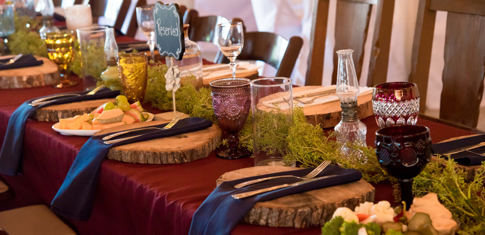 Hill Country Wedding Venue- Dinner Decor