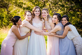 Wimberley Weddings- Hugs from Bridesmaid