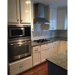 Subway tile & stainless steel appliances are a perfect pair for creating a clean, eloquent, & spacio
