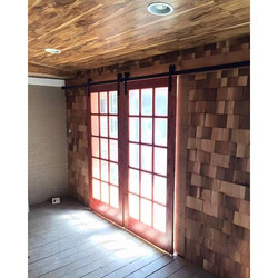 Hardwood floor ceilings are perfect for adding charm to any room! Here's today's project, a cedar sh