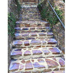 Flagstone rock transforms worn-out concrete steps into major curb appeal! _#localbrand #localbusines