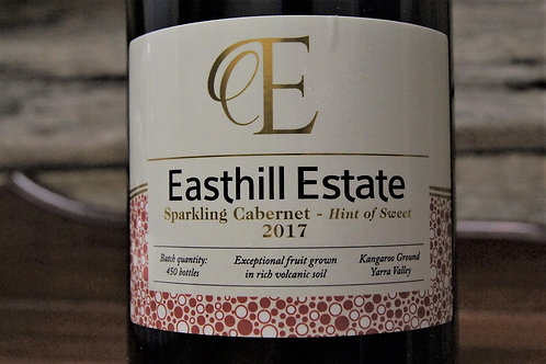 Easthill Estate Sparkling Cabernet 2017- Hint of Sweet