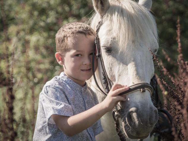 Séance photo cheval
