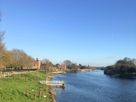 The River Thames where guests would traditionally arrive at high tide.