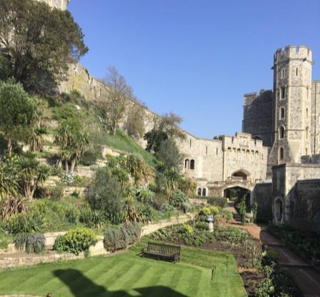 Gardens outside the upper ward of Windsor Castle