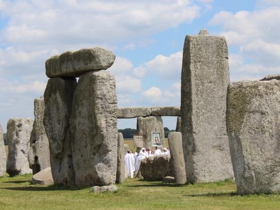 Local 'druids' celebrating the summer solstice