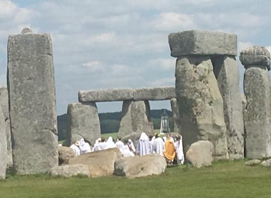 Druids singing close to the healing bluestones